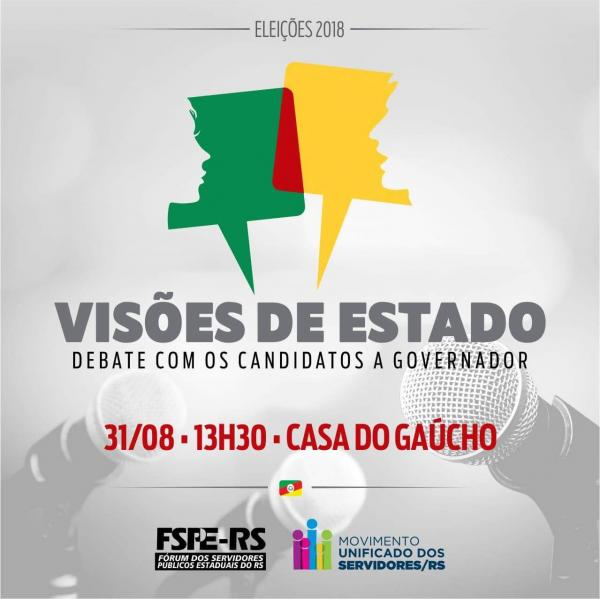 Debate com candidatos ao governo do Estado do RS